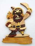 plaque de porte en bois : pirate